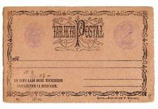 Original Ganzsache Tarjeta Postal Ecuador Dos Centavos 1890