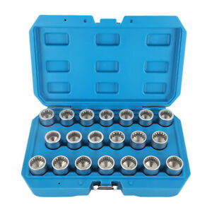 Wheel Nut Lock Screw Socket Set Anti-theft Screw Nut Removal Tool for Porsche