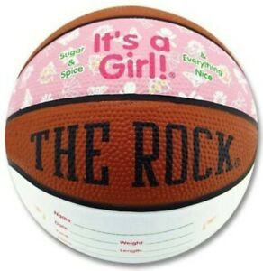 Birth Announcement It's a Baby Girl Basketball New Baby Keepsake