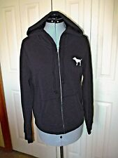 Victoria's Secret LOVE PINK Hoodie Zip up Dog Small Black