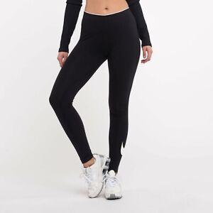 Nike Club Swoosh Logo Full Length Leggings Women's Size XS 815997 010 BNWT