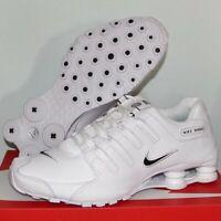 Nike Shox NZ EU Running Shoes Men's 8.5 501524-106 White Black New
