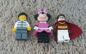 LEGO Minifigures Minnie Mouse, Robber, Harry Potter