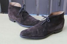 "CHAUSSURE BOOTS CROCKETT&JONES ""TETBURY"" DAIM 9 E 43 SUPER ETAT MEN'S SHOES"