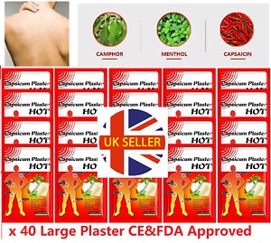 20 X Capsicum Plaster Large Hot Pain Relieving Patches Muscle Relief Belladonna
