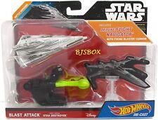 Star Wars Hot Wheels STAR DESTROYER Battle Damaged Blast Attack New NIP