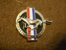 1999 FORD MUSTANG 35TH ANNIVERSARY CHROME METAL RUNNING HORSE EMBLEM BADGE NEW