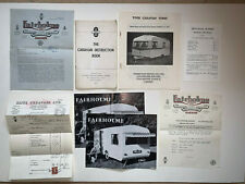 Vintage Caravan Instruction Book Ephemera & Bill of Sale Fairholme Bambino 1962
