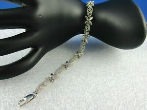Exquisite14kt White Gold 6.8 Grams bracelet unique sparking design just 4-U