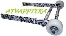 WIDE WHEELIE BAR grab bar bumper atv YAMAHA RAPTOR 700 YFM700 R QUAD Rollers
