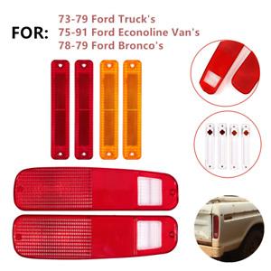 Tail Light Lens & Side Fender Kit Fit for FORD F150 F250 E150 Truck 78-79 Bronco