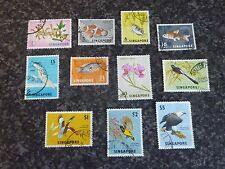 SINGAPORE POSTAGE STAMPS SG63,66,67,69,70A,72-77 FINE USED