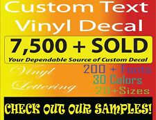 Custom Decal Vinyl Personalized Lettering Stickers for Window, Names, and Wall