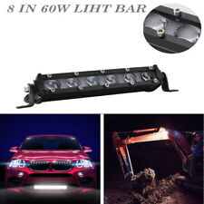 8in 60W Spot Beam Slim LED Work Light Bar Single Row Car SUV Off road Boat Lamps