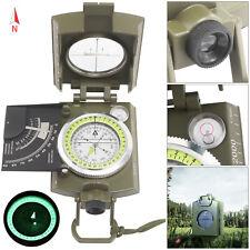 BW Bundeswehr Armeekompass mit Etui oliv, Kompass Metallgehäuse Marschkompass