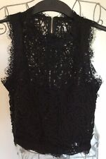 Missguided tall Size 8 Cornelli lace sleeveless cropped top new