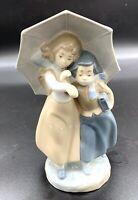 Zaphir by Lladro Porcelain Girl & Boy under Umbrella Figurine 22cm Made in Spain