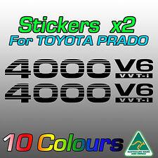 4000 V6 VVTi stickers for Toyota Prado x2 *Premium quality decals* by AustImages