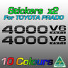 Toyota Prado stickers decals x2 for 4000 V6 VVTi  ***premium quality***