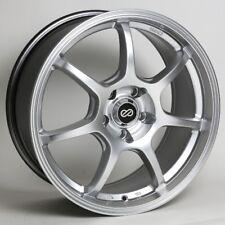 17x7.5 Enkei GT7 5x108 +38 Hyper Silver Rims Fits Ford Lincoln mercury