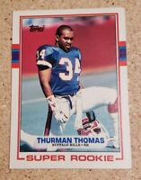 1989 Topps #45 Thurman Thomas HOF ROOKIE Buffalo Bills / Oklahoma State