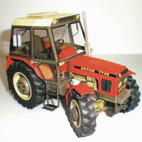 Construction Machinery Tractor 3D Paper Model DIY Handmade Papercraft Toy CRIT