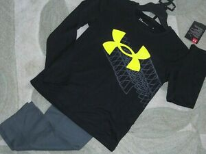 Under Armour~Boys Logo Pullover Shirt & Pant 2-Piece Set~Youth Size 5~NWT