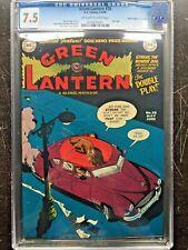 GREEN LANTERN COMICS #38 CGC VF- 7.5; OW-W; Streak dog cvr, last issue!; rare!