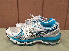 EUC Asics Gel Kayano 18 Women's Running Shoes Size US 7 EU 38 White T250N