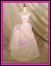 Beautiful white strapless sparkle wedding dress fits silkstone royalty Barbie