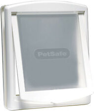 Pet Door Dog Flap Extra Large 2 Way Lockable Entrance White Gate 456 x 386 mm