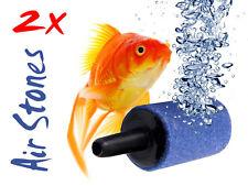 "2x Aquarium / Fish Tank Airstone / Air Stones - Create Bubbles 1"" / 25mm Long"