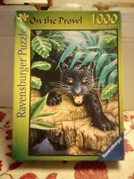 Ravensburger On the Prawl Jigsaw Puzzle 1000 Pce Complete Black Panther Big Cat
