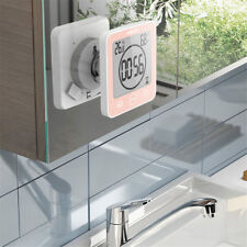 Digital Bathroom Clock Waterproof  Shower Timer Temperature Humidity Clocks