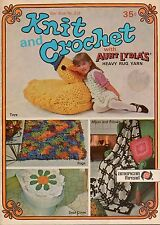 American Thread Star 218 Knit Crochet Aunt Lydias Rug Yarn TV Seat Toys Cat 1960