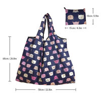 Lady Foldable Recycle Shopping Reusable Cartoon Floral Fruit Vegetable Tote Bag