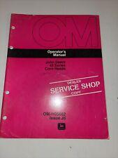 John Deere 40 Series Corn Heads Operator's Manual Om-H95662 J6 Dealer Shop Copy