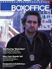 Boxoffice Magazine September 1989 Vol 125 No 9 Micheal Douglas Black Rain