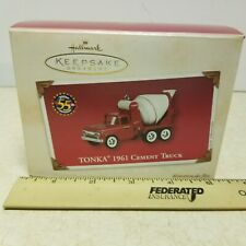 1961 Tonka Cement Truck Ornament 2002 Hasbro Hallmark Keepsake #QX8233. #1