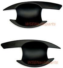 Mitsubishi Triton Matt Matte Black 2 Door Handle Insert Bowl Cup Trim 2006- 2014