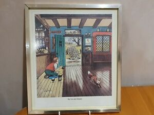 """Norman Thelwell """"The Fox and Hounds"""" Print - Framed"""