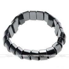 Black Hematite Magnetic Bead Elastic Bracelet Bangle Healing Balance Pain Relief