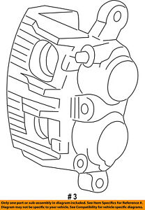 FORD OEM Rear-Caliper G2MZ2V552BRM