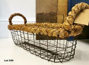 Decorative Display Storage Vegetable Fruit Egg Wire Basket in Farm Style