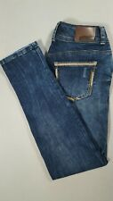 MAURICES Womens Low Rise SKINNY Jeans Dark Distressed Wash Size 3/4 Regular