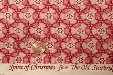 """""""SPIRIT OF CHRISTMAS"""" COTTON QUILT FABRIC BY THE YARD MARCUS FABRICS 4516-0151"""
