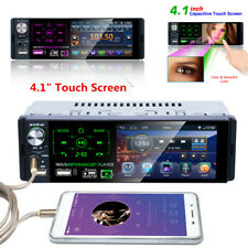 Bluetooth 1 DIN 4.1 inch Touch Screen Car Stereo MP5 Player AM FM Radio + Camera