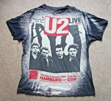 Vintage U2 1984 Concert T-Shirt Unforgettable Fire Hamburg Germany