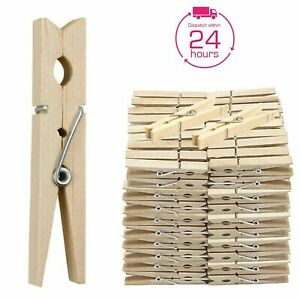 PREMIUM WOODEN Clothes Pegs Heavy Duty Pine Laundry Washing Line Airer Sun Dryer