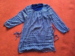 Long Tall Sally Blue long sleeve blouse Top UK Size 22